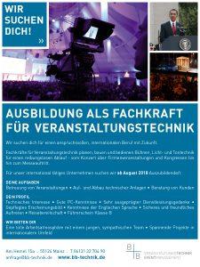 Ausbildung Fachkraft für Veranstatlungstechnik | Mainz | Frankfurt | Rheingau | Wiesbaden | Rhein-Main-Gebiet