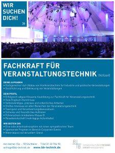 Fachkraft für Veranstaltungstechnik FEstanstellung Mainz Frankfurt